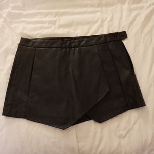 Faux Leather Skorts